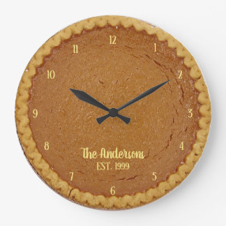 Pumpkin Pie Pie O'Clock Personalized Clock