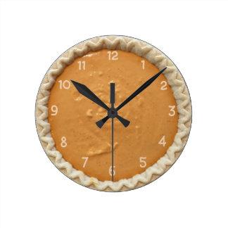 Pumpkin Pie Round Clock