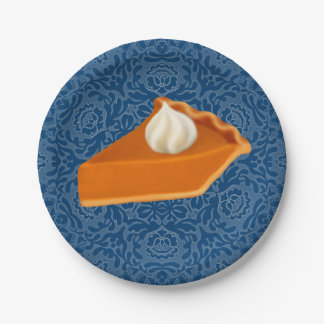 Pumpkin Pie Slice Paper Plates 7 Inch Paper Plate