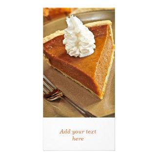 Pumpkin pie slice photo card