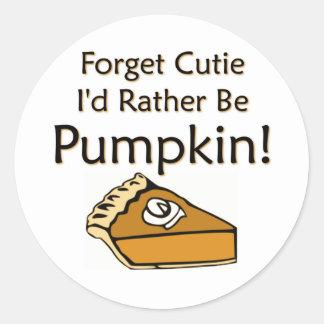 Pumpkin Pie Round Sticker