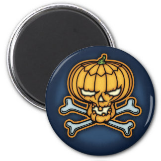 Pumpkin Pirate 6 Cm Round Magnet
