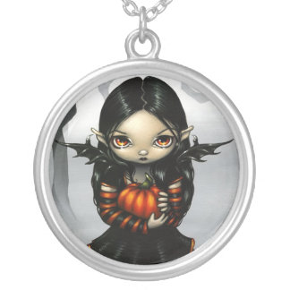 Pumpkin Pixie NECKLACE gothic fairy halloween