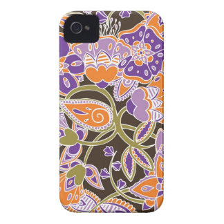 Pumpkin & Plum Floral iPhone 4 Case
