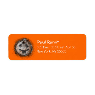 Pumpkin Rabbit Halloween Label Return Address Label