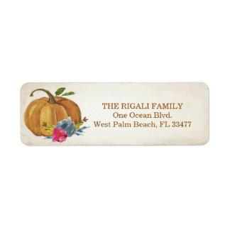 Pumpkin Return Address Labels