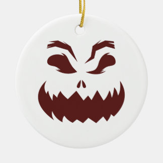 Pumpkin Round Ceramic Decoration