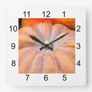 Pumpkin Season Square Wall Clock