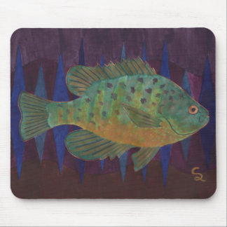 Pumpkin Seed Sunfish Mouse Pad