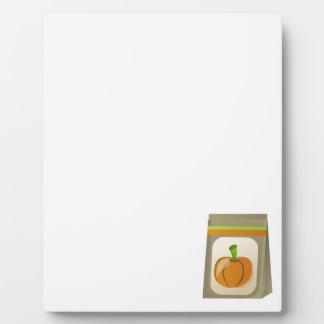 Pumpkin seeds display plaques