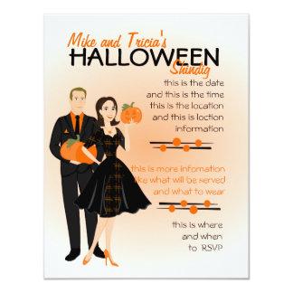 "Pumpkin Shindig 4.25"" X 5.5"" Invitation Card"