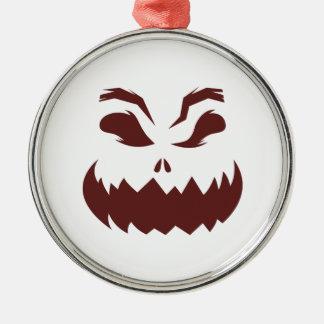 Pumpkin Silver-Colored Round Decoration