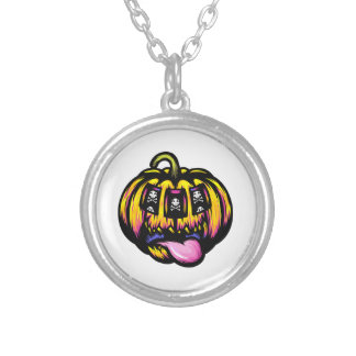 Pumpkin Slot Silver Plated Necklace