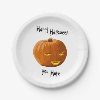 Pumpkin Sly: Happy Halloween - You Hope 7 Inch Paper Plate