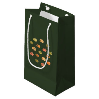 Pumpkin Small Glossy Gift Bag