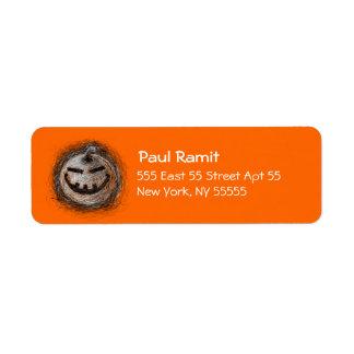 Pumpkin Smile Halloween Label Return Address Label