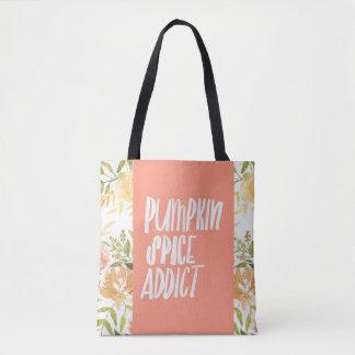 Pumpkin Spice Addict All-Over-Print Tote Bag