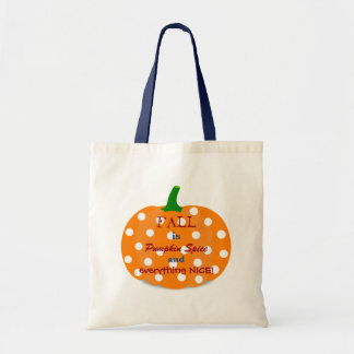 Pumpkin Spice and Everything Nice Fall Tote Budget Tote Bag