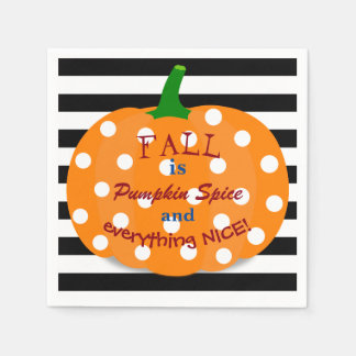 Pumpkin Spice and Everything Nice Paper Napkins