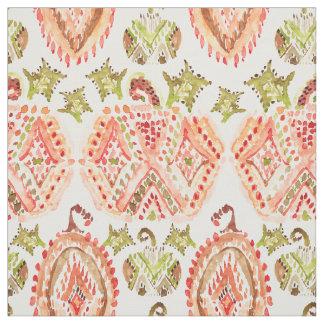 PUMPKIN SPICE Boho Watercolor Fabric