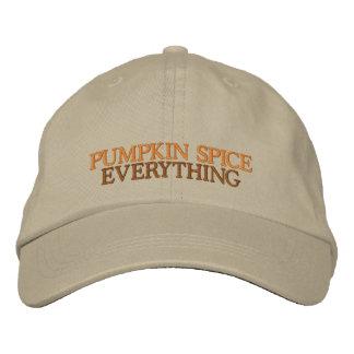 Pumpkin Spice Everythin Adjustable Embroidered Hat