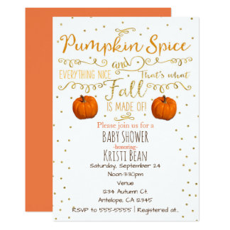 Pumpkin Spice & Everything Nice Fall Invitations