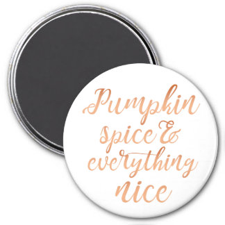 Pumpkin spice & everything nice magnet