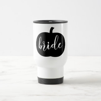 Pumpkin Spice Fall Bride Travel Mug
