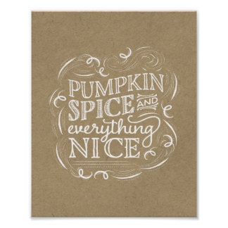 Pumpkin Spice Fall Thanksgiving Art Print