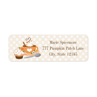 Pumpkin Spice Fall Wedding Shower Return Address Label