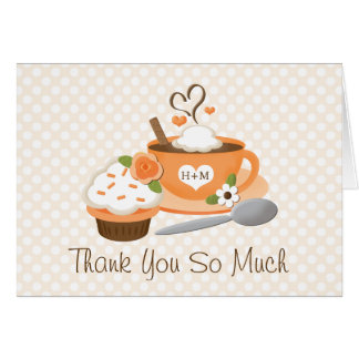 Pumpkin Spice Fall Wedding Shower Thank You Card