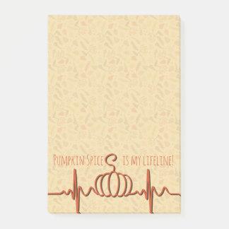 Pumpkin Spice Lifeline 4x6 Post-it Notes