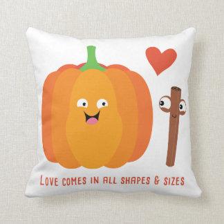 Pumpkin Spice Love Cute Fall Throw Pillow