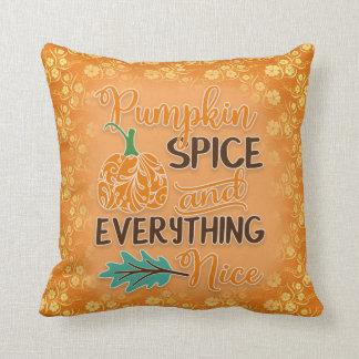 Pumpkin Spice Orange Autumn Cushion