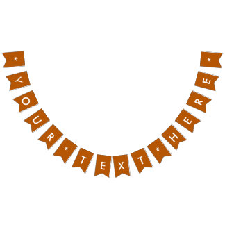 Pumpkin Spice Solid Color Customize It Bunting