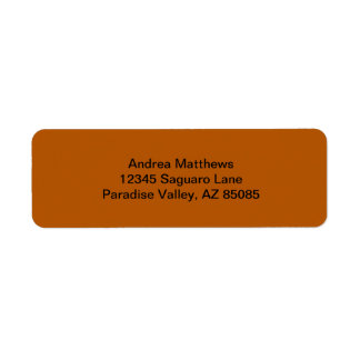 Pumpkin Spice Solid Color Return Address Label