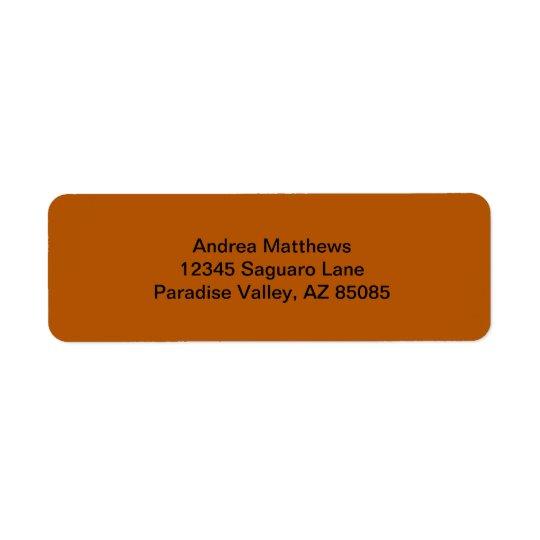 Pumpkin Spice Solid Colour Return Address Label