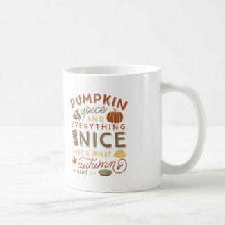 Pumpkin Spice Typographic Autumn Coffee Mug