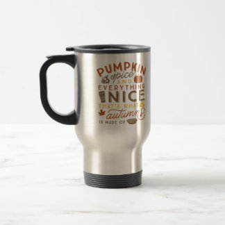 Pumpkin Spice Typographic Autumn Travel Coffee Mug