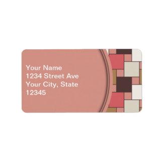 Pumpkin Spice Weave Pattern Address Label