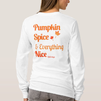 pumpkin spice women's shirt long sleeve