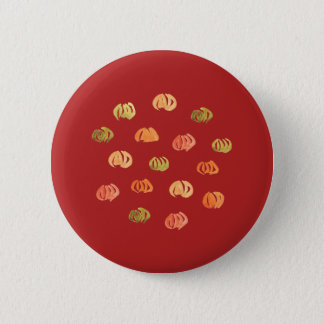 Pumpkin Standard Round Button