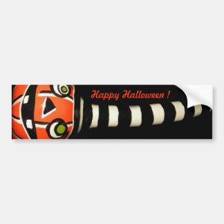 Pumpkin Stripe Bumper Stickers