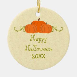 Pumpkin Swirls Halloween Ornament