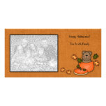 Pumpkin Teddy Bear Photo card