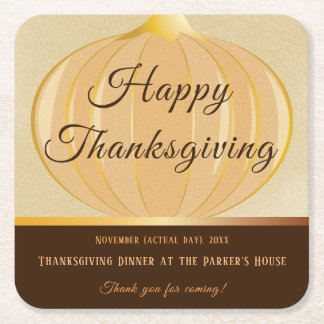 Pumpkin Thanksgiving | Coaster