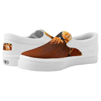 Pumpkin time shoes printed shoes