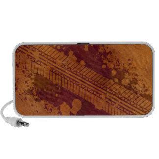 Pumpkin Tire Track Grunge Doodle Speaker