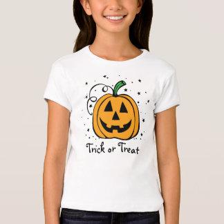 Pumpkin Trick or Treat Girls Babydoll Tee