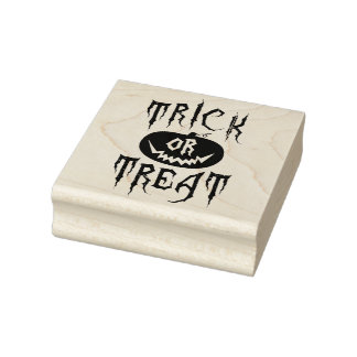 Trick or Treat Rubber Stamps